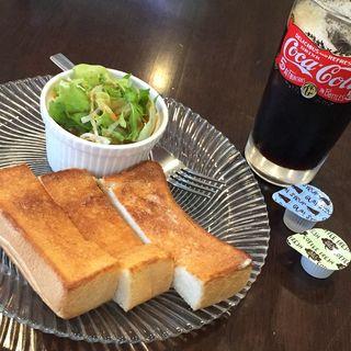 トースト モーニングセット(コーヒーラウンジ アラジン )