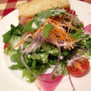 フォカッチャとサラダ(ロマンツァ 銀座店 )