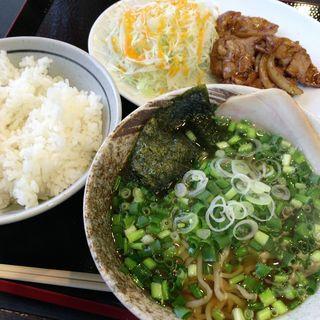 焼肉定食(ねぎトッピング)(ラーメンふたば )