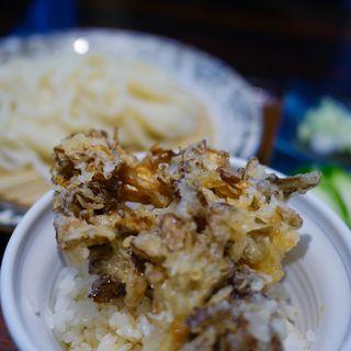 とり塩つけうどんと舞茸と小海老のかき揚げ丼セット(游喜庵(遊喜庵) 伊香保店 (ゆうきあん))