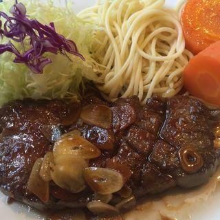 元祖ガーリックステーキ(はらみ肉) 150g(住吉三島店)