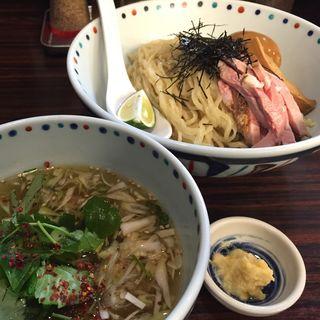 冷製塩ニボつけそば(夏麺第4弾)(らー麺 あけどや )