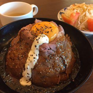 ローストビーフ丼 並盛(ビアブルグ 梅田 (Bierburg UMEDA))