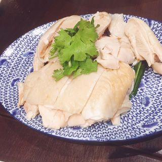 蒸し鶏三種ソース(四川 岡本店 (シセン))