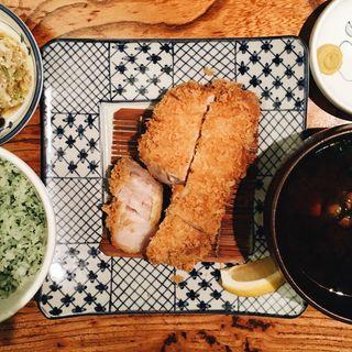ねぎ塩ロースかつ定食(150g)(かつ吉 渋谷店 (カツキチ))