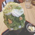 チーズタルトかき氷宇治抹茶(PABLO)