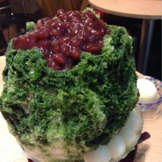 宇治抹茶あずき かき氷(よーじやカフェ渋谷ヒカリエShinQs店)