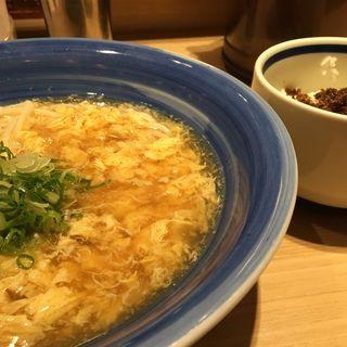 かき玉うどん ご飯付き(手延べうどん 水山 )