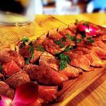 ローストビーフの肉寿司(ホノガーデン)