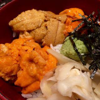 ミニうに丼(三種)(銀座虎杖 )