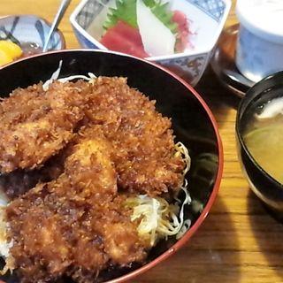 鶏かつ丼セット(銀釜 (ぎんがま))