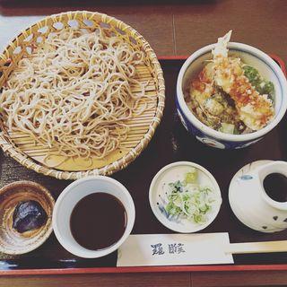 ざる蕎麦と小天丼(らご)