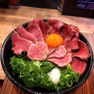 ローストビーフ丼(大)(肉タレ屋 難波バル店 )