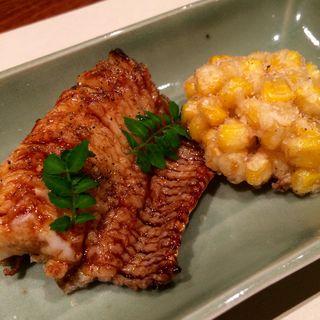 鱧とトウモロコシの天ぷら(銀座 圓 )