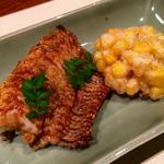鱧とトウモロコシの天ぷら