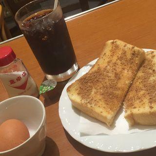 モーニングセット シナモントースト(米本珈琲 新店)