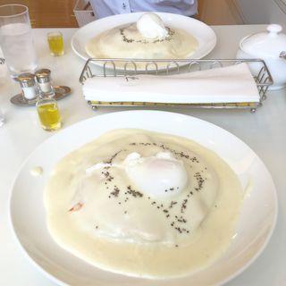エッグベネディクトスタイル・パンケーキ(お食事パンケーキ) (マールブランシュ JR京都伊勢丹店 )