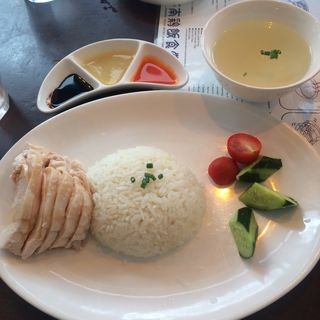 海南鶏飯(チキンライス)並(海南鶏飯食堂2恵比寿店)