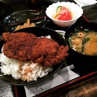 かつ丼定食(とんかつ味処 くら)