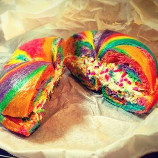Rainbow Color Bagel