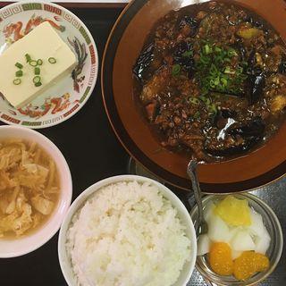 麻婆茄子定食(長春飯店 (チョウシュウハンテン))