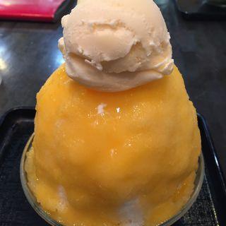 マンゴーバニラアイスのせ(古の花 (いっぷく処 古の花))