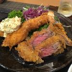 ビーフカツと大海老フライ(キッチン ゴン 京都駅ビル店 )
