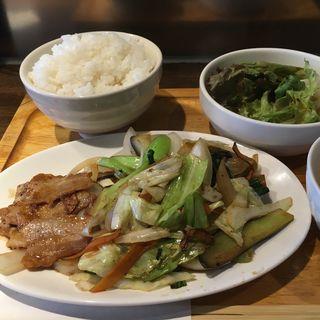 豚肉焼と野菜炒めランチ(い乃清)