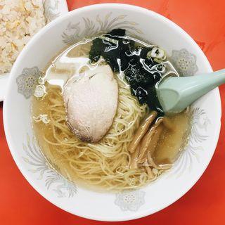 塩ラーメンと半チャーハンセット(宝来飯店 (ホウライハンテン))