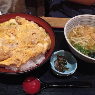 親子丼小さなうどんセット(茶房ひまわり イズミヤ洛北店 )