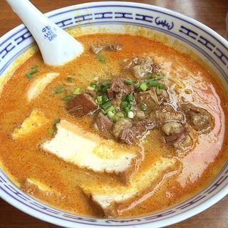 牛バラカレースープ麺(香港麺)(新記 三宿本店 (シンキ))