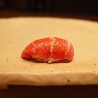 鮪の大トロ(鮨 久いち (ひさいち))