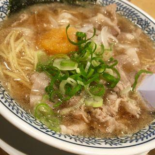 熟成醤油ラーメン 肉そば 682円(丸源ラーメン 宮前平店 )