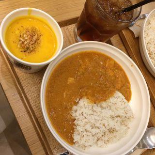 玉葱と鶏肉のカレーとかぼちゃのスープセット(スープストックトーキョー アトレ ヴィ三鷹店 (Soup Stock Tokyo))