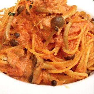 帆立ときのこのトマトクリームスパゲティ(ロイヤルガーデン (AL ROYAL GARDEN))