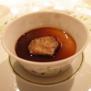フォアグラのフラン ポルト酒風味 フォアグラソテー添え(マノワール・ディノ )