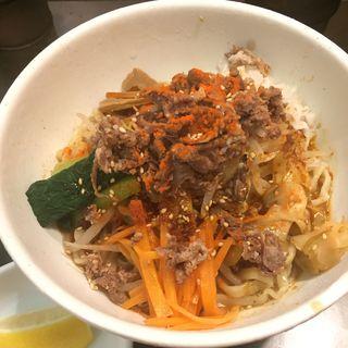 辛口味禅の冷しビビン麺(限定)(らぁめん つけめん 粋や (いなせや))