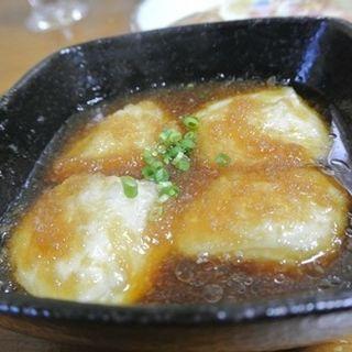 地豆豆腐の揚げ出し(さとうきび )