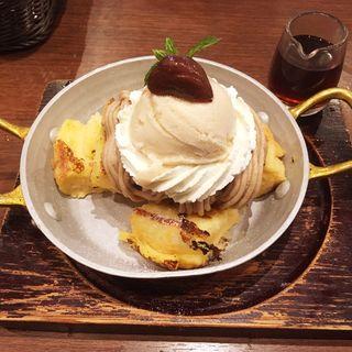 モンブランのフレンチトースト 〜マロングラッセアイス〜(星乃珈琲店 福岡早良店)
