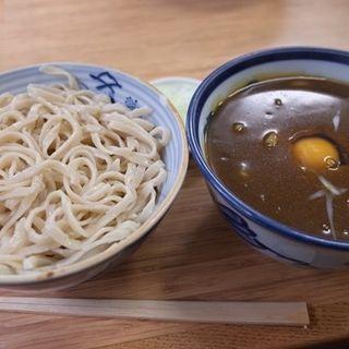 カレー南蛮蕎麦別盛と生たまご(翁そば)