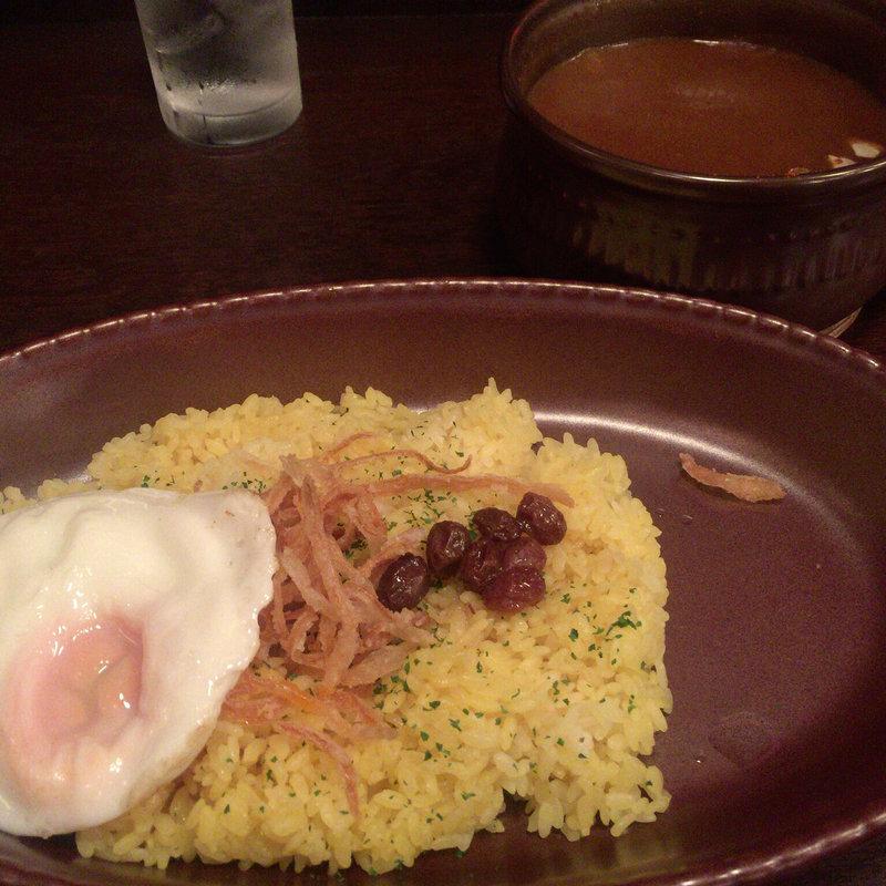 チキンカレー辛口(ルゥ大盛 目玉焼きトッピング)