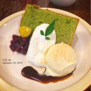 抹茶シフォンプレート(cafe soto...