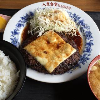 どでかバーグ定食(300g)(八重食堂 )