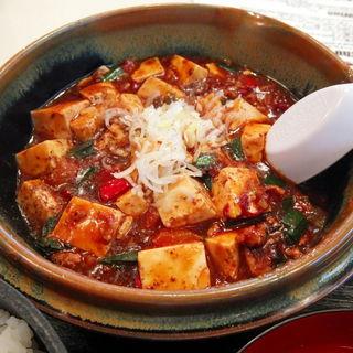 香りの麻婆豆腐定食(味噌汁付)(あさくさ食堂)