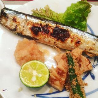 秋刀魚の塩焼き(かぶら )