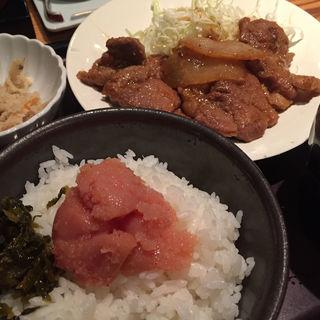 豚生姜焼き定食(やまや エキマルシェ大阪店 )