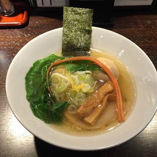 味玉アジ煮干し塩中華そば(志奈そば 田なか セカンド (Shinasoba Tanaka second))