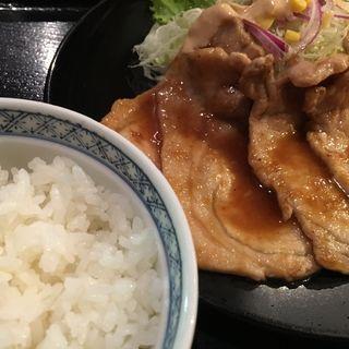 生姜焼き定食(彩楽工房 結城家 つくば店 (ゆうきや))
