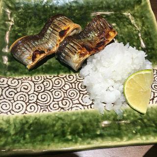 新秋刀魚塩焼き(俺のだし )