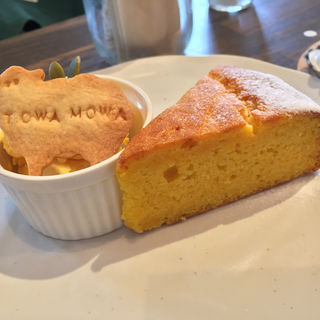 かぼちゃのケーキ(トワモワカフェ (towa mowa cafe))